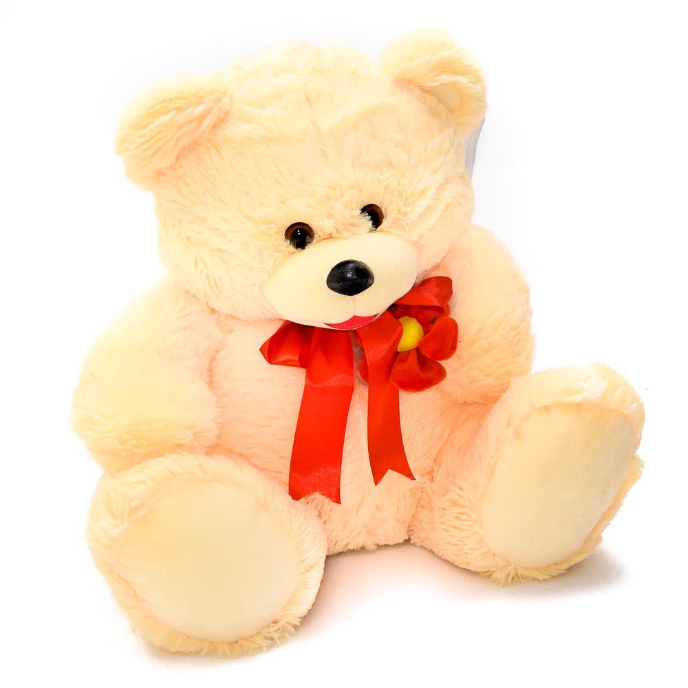 Мягкий разноцветный медвежонок игрушка фото