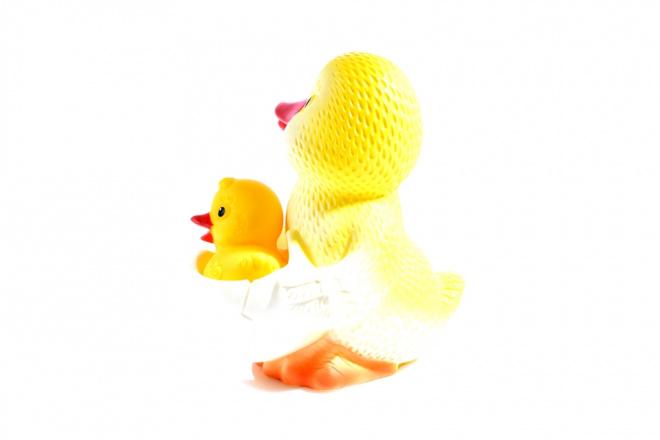 Игрушка ПВХ Утка-мама №1 (с утенком) (Огонек)